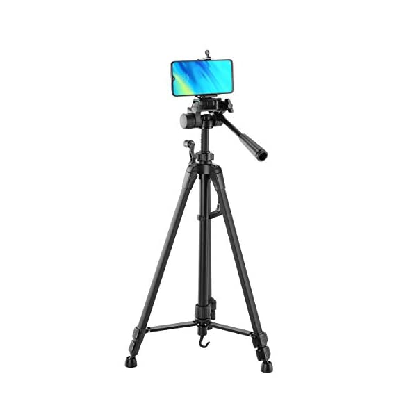 RetinaPix Simpex Camera Tripod LW 630 Professional Aluminium Tripod with Mobile Clip and Carry Bag