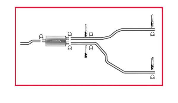 amazon com: mac auto parts 39896 s pick up thunder bolt muffler dual exhaust:  automotive