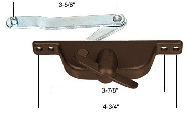 "Cr Laurence Bronze Jalousie Window Operator with 3-5/8"" O..."