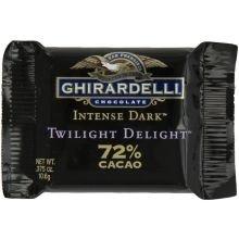 Intense Dark 72 Percent Cacao Twilight Delight Squares.375 Ounce - 50 per case.