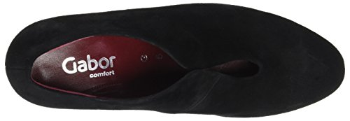 Gabor Ladies Comfort Fashion Pumps Black (47 Nero (fu Rosso))