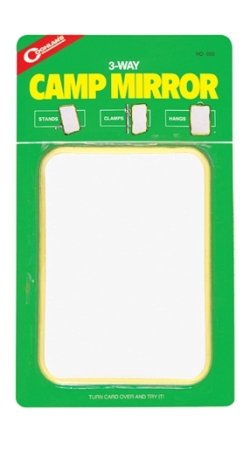 Mirror Coghlans - Coghlans 3 Way Camp Mirror Sturdy Colorful Plastic Frame With Unique Metal Hook 5 X 7 Inch