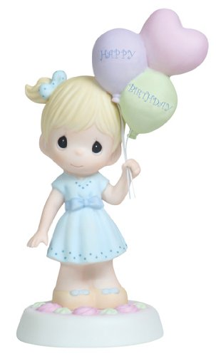 Precious Moments,  May Your Birthday Be As Special As You!, Bisque Porcelain Figurine, 112010