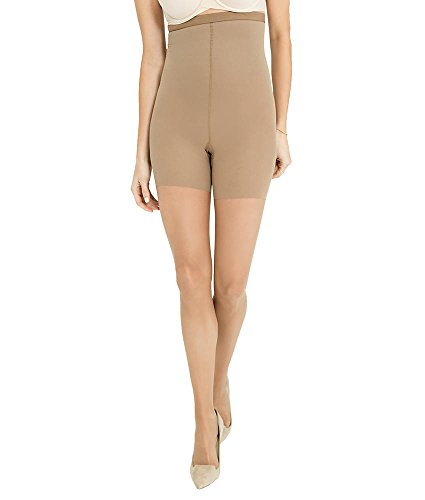 SPANX Luxe Leg High-Waist Sheers Firm Control Pantyhose, D, Nude 4 (Red Hot Label By Spanx High Waisted Leggings)