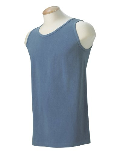 - Comfort Colors Adult Scoop Neck Garment-Dyed Sleeveless Tank, Blue Jean, Small