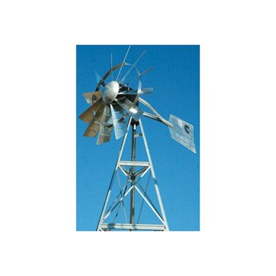 Outdoor Water Solutions AWS0013 20-Feet Galvanized 3-Legged Aeration System Windmill ()