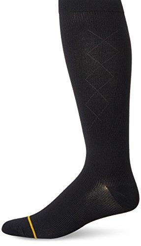 - Gold Toe Men's Mild Compression Argyle Otc 1 Pack, Black, Sock Size:10-13/Shoe Size: 6-12