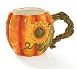 Burton & Burton Large 17oz Autumn Pumpkin Shape Coffee Mug/cup