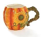 Burton & Burton Large 17oz Autumn Pumpkin Shape Coffee Mug/cup