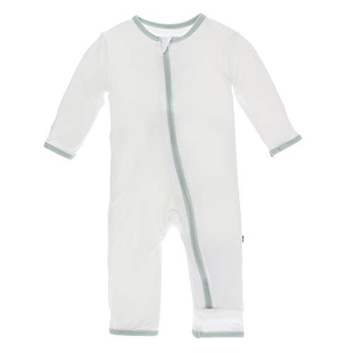 Dungarees 3 (Kickee Pants Little Boys Solid Coverall with Zipper - Natural with Aloe, 3-6 Months)