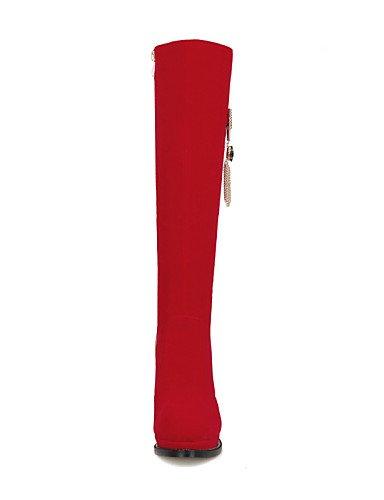 La Eu39 Vellón A Robusto Vestido Black us8 Red Cn37 Uk6 7 Zapatos 5 Botas Eu37 Uk4 Negro Rojo Mujer Y Tacón Fiesta 5 us6 Xzz De 5 Cn39 Moda Noche Y0IUOnq