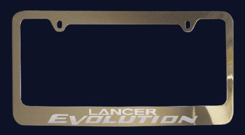 Mitsubishi Lancer Evolution License Plate Frame (Zinc Metal)