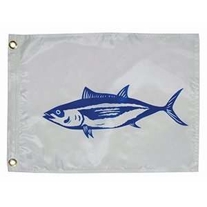 (Tayor Made Products 3118, Fish Flag, Nylon, 12 inch x 18 inch, Tuna)