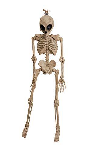 Bristol Novelty HI371 Alien Skeleton, Men, Women, Beige