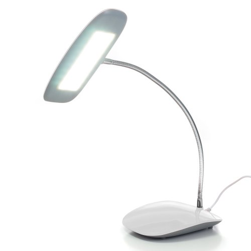 Northwest 72-SL159W 18 LED USB Desk Lamp, Touch Activated, White
