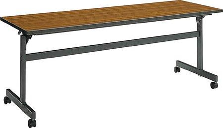 コクヨ 会議 ミーティング用テーブル KT-60シリーズ 天板フラップ式 棚付き 幅1800×奥行き450mm 天板カラー:T B00AT82UPGT