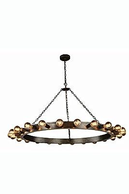 "Elegant Lighting 1500G55AI Winston Collection Pendant Lamp D55"" H31"" 24-Light"