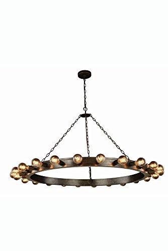 Elegant Lighting 1500G55AI Winston Collection Pendant Lamp D55