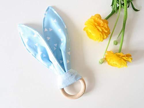 Teething ring - rabbit ears crackle