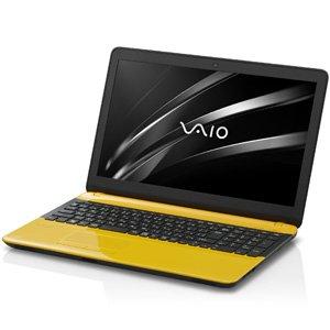 VAIO 15.5型ノートパソコン VAIO C15イエロー ブラック VJC15190411Yの商品画像