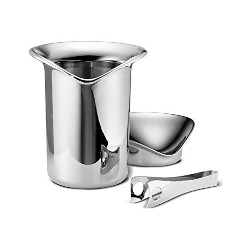 - Georg Jensen - Ice Bucket with Tong, Stainless Steel