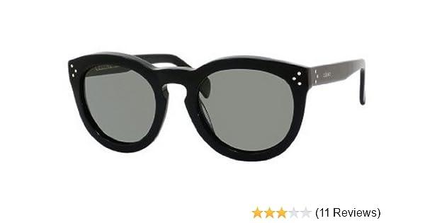 ecdcd7f8e5da0 Amazon.com  Celine 41801 s 807 Black Preppy Round Sunglasses Polarised Lens  Category 3 Size  Celine  Shoes