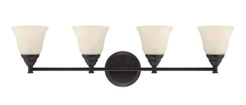 Designers Fountain 85104-ORB Kendall 4 Light Bath Bar, Oil Rubbed Bronze