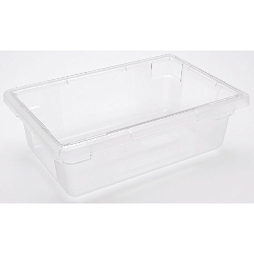 HUBERT Food Storage Container 3 1/2 Gallon Clear Plastic Hal