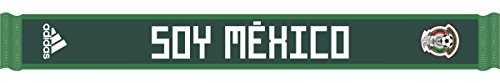 Mexico Scarf - adidas World Cup Soccer Mexico Home Scarf, One Size, Collegiate Green/Green/White