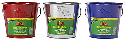 Lamplight Farms 1418094 Bitefighter Citronella Wax Candle Metal Bucket, Red, Blue or Galvanized, 17-oz. - Quantity 1 ()