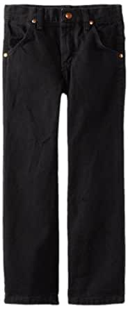 Wrangler Little Boys' Original ProRodeo Jeans, Overdyed Black Denim, 4 Regular