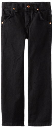 Boys Black Toddler Denim - Wrangler Little Boys' Toddler Original ProRodeo Jeans, Overdyed Black Denim, 3T Regular