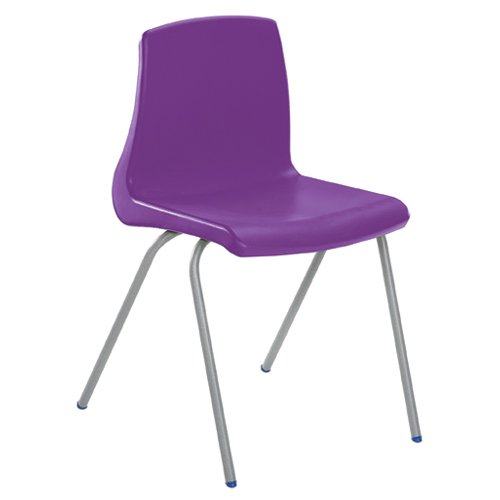 Metalliform np3-sv-purple standard Classroom sedia con sedile 350mm, viola