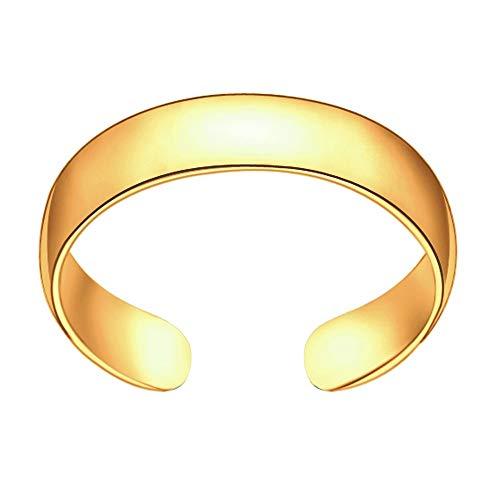 Sinlifu Stainless Steel Toe Ring Metal Material Fashion Jewelry Hawaiian Beach for Women (Yellow Gold)