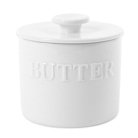White Porcelain Butter Keeper by Everyday White