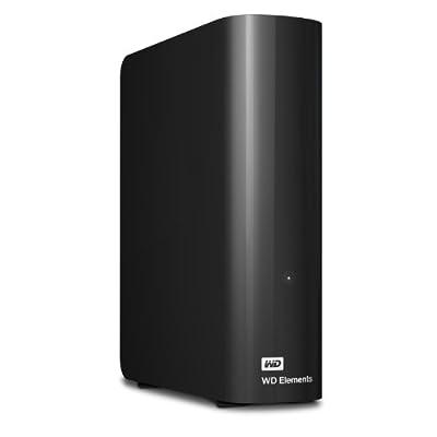 WD Elements - Disco duro externo de sobremesa de 4 TB (SATA III, 5400 RPM, USB 3.0), color negro