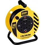 DEFENDER 230v/240v ELECTRIC EXTENSION REEL 13amp 20m SITE POWER/LIGHTING E86465 by Defender