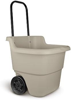 Suncast 15.5-Gal. Rolling Lawn Cart