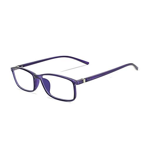 Anti Blue Ray Men Women Transparent Spectacles Eyeglasses Protective Eyewear Gaming,Crystal Purple