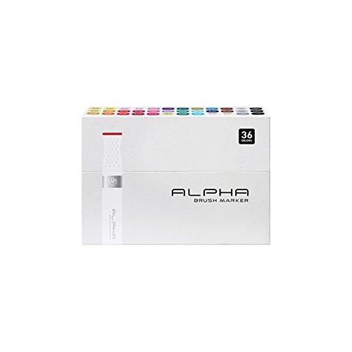 Alpha EF 36 Brush Grafikmarker 36er Brush Set Box Design Marker ()