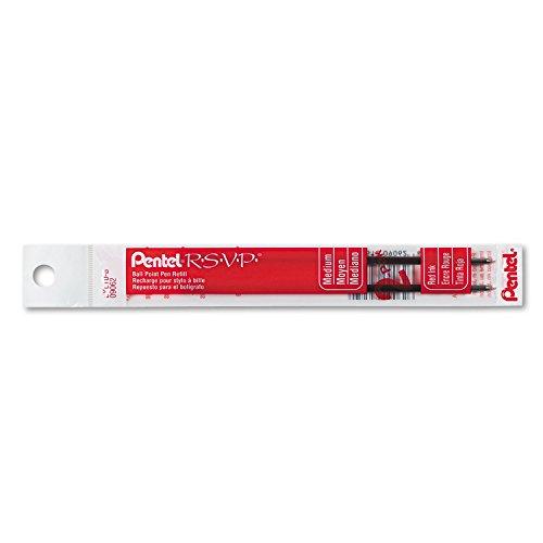 (Pentel BKL10B Refill for Pentel R.S.V.P. Ballpoint Pens, Medium, Red Ink, 2/Pack)