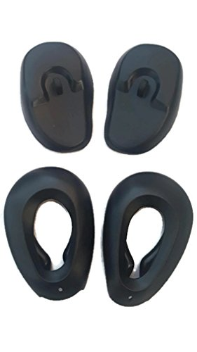 Silicone Ear Covers (Black) (2 Styles)