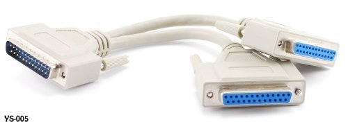 CablesOnline 8 inch DB25 Parallel Male/Dual Female Y-Spli...