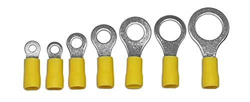 10, 4-6mm/² // M12 6mm/² isoliert Ringkabelschuhe Ringverbinder Kabelverbinder 0,5mm/² gelb