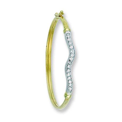 9ct or jaune bébé CZ Bracelet 3.0G