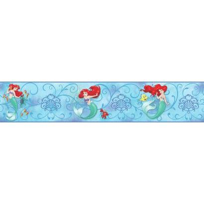 York Wallcoverings Kids III Disney The Little Mermaid Border, Blues