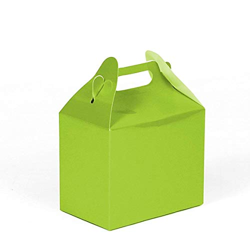 24CT (2 Dozen) Biodegradable Kraft/Craft Favor Treat Gable Boxes, Gift Boxes (Lime Green, Small)