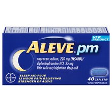 Aleve PM Pain Reliever, Nighttime Sleep-Aid Caplets40.0 ea 5 Pack