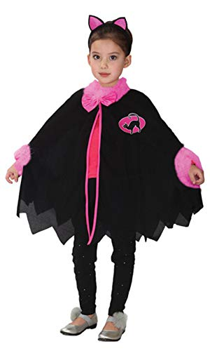stylesilove Adorable Little Girls Halloween Costume Party Cosplay Dress (S/3-4 Years, Little Black Cat)