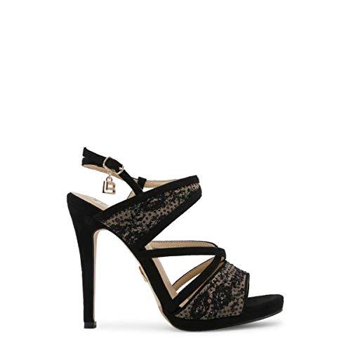 Laura Femme Noir Sandales Cloth 635 41 Biagiotti qIHXwrq